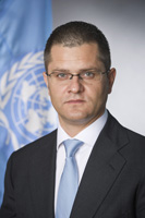 Portrait of Vuk Jeremic President of the sixty-seventh session of the General Assembly