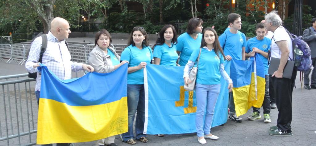 Krimmitatarlased protesteerimas okupatsiooni vastu